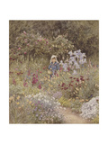 Minna, Illustration to 'Happy England' by Marcus Huish, Pub. by a and C Black, 1904 Giclee Print by Helen Allingham