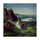 St. Jerome in a Landscape Giclee Print by Joachim Patenir