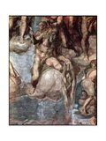 Sistine Chapel Ceiling: The Last Judgement, Detail of St. Bartholomew Holding His Flayed Skin Giclee Print by  Michelangelo Buonarroti