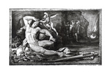 Ulysses Blinding Polyphemus the Cyclops, Frieze Representing Scenes from the Quests of Ulysses Giclee Print by Pellegrino Tibaldi