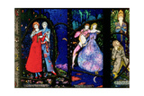 The Geneva Window Depicting 'The Playboy of the Western World' by J.M. Synge, 'The Dreamers' Gicleetryck av Harry Clarke