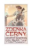 Zdenka Cerny, the Greatest Bohemian Violoncellist, 1913 Giclee Print by Alphonse Mucha
