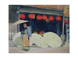 Outside a Japanese Tearoom Giclee Print by Mortimer Ludington Menpes