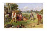 The Village Team, 1856 Giclee Print by William Henry Knight