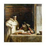 Washington Irving (1783-1859) Researching Columbus in the Convent of Rabida, 1828-29 Giclee Print by Sir David Wilkie