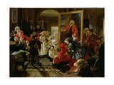 Hogarth's Studio in 1739 Giclee Print by Edward Matthew Ward
