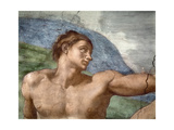 The Creation of Adam, Detail of Adam's Head, 1508-12 Giclee Print by  Michelangelo Buonarroti