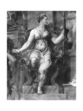 Moderation, One of the Two Virtues Surrounding Pope Clement I (1-97) Raphael Rooms Giclee Print by Giulio Romano