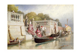 Disembarking from the Gondola, Venice Giclee Print by Myles Birket Foster