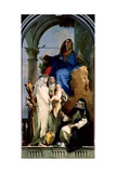 The Virgin and Three Dominican Saints, 1740 Giclee Print by Giovanni Battista Tiepolo
