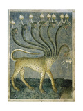 The Seven-Headed Beast Coming from the Sea, 1360-70 Giclee Print by Giusto Di Giovanni De' Menabuoi
