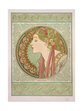 Laurel, 1901 Lámina giclée por Mucha, Alphonse Marie