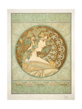 Ivy, 1901 Giclee Print by Alphonse Marie Mucha