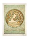 Ivy, 1901 Lámina giclée por Mucha, Alphonse Marie