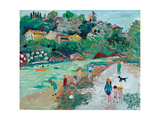 My River at Vaison (My Little Beach) Giclee Print by Fred Yates