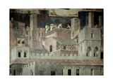 Effects of Good Government in the City, Detail of Architecture and Construction of a House Giclee Print by Ambrogio Lorenzetti