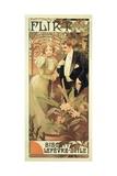 Poster Advertising 'Flirt' Biscuits by 'Lefevre-Utile', 1899 Giclée-tryk af Alphonse Mucha