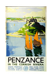 Penzance in the Cornish Riviera, c.1935 Giclee Print by Frank Sherwin