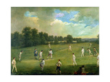 Cricket as Played in the Mary-Le-Bone Fields, c.1744 Giclee Print by Francis Hayman