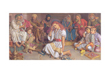Christ Among the Doctors, 1887 Giclee Print by William Holman Hunt