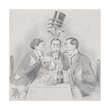 A Celebrated Luncheon a Trois (The Three Isaacs) 1900 Giclee Print by Edward Tennyson Reed