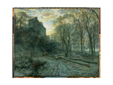 Winton House, East Lothian: a Frosty Morning, 1872 Giclee Print by Samuel Bough