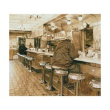 Diner, 2008 Giclee Print by Max Ferguson