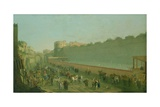 A Game of Pallone at Naples, c.1768 Giclee Print by Pietro Fabris