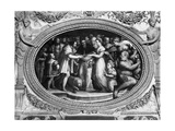 Pope Clement VII (1478-1534) Marrying Catherine De Medici (1519-1589) and Henri II of France Giclee Print by Giorgio Vasari