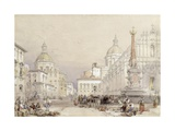 The Square of the Elephant, Catania, 1839 Giclee Print by William Leighton Leitch