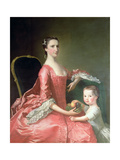 Wife of Canon Bowles Giclee Print by Thomas Hudson