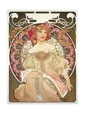 Reverie, 1897 Gicléedruk van Alphonse Mucha