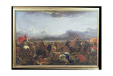 Battle Between the Turks and Christians Giclee Print by Jacques Courtois