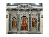 Triptych of the Virgin of Misericordia Giclée-Druck von Bartolomeo Vivarini
