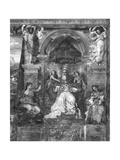 Pope Urban I (D.230) Between Justice and Charity, Raphael Rooms Giclee Print by Giulio Romano