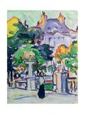 Luxembourg Gardens, c.1910 Giclee Print by Samuel John Peploe