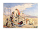 A Halt in the Desert Giclee Print by John Frederick Lewis