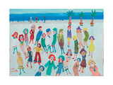 Montecarlo (Ladies on the Prom) Giclee Print by Fred Yates