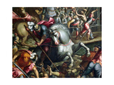 The Crusaders Conquering the City of Zara in 1202 (Detail) Giclee Print by Andrea Vicentino