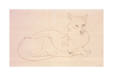 The Cat Giclee Print by Henri Gaudier-brzeska
