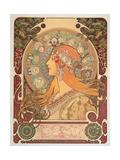 Zodiac, 1896 Giclée-tryk af Alphonse Mucha
