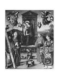 Sacred Conversation, 1508 Giclée-tryk af Bernardino di Betto Pinturicchio