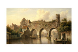 Ruins over the River Birchel at Zutphan in Holland Giclee Print by Everhardus Koster