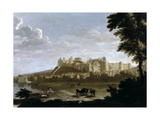 View of Windsor Castle with Cattle and Bathers Giclee Print by Hendrick Danckerts