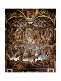 Sistine Chapel: The Last Judgement, 1538-41 Giclee Print by  Michelangelo Buonarroti