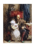 Old Man and Child, c.1827 Giclee Print by Richard Parkes Bonington