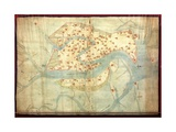 Map of Venice Giclee Print by Cristoforo Sabbadino