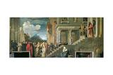 The Presentation of the Virgin in the Temple, 1534-38 Giclée-Druck von  Titian (Tiziano Vecelli)