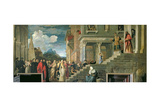 The Presentation of the Virgin in the Temple, 1534-38 Giclee Print by  Titian (Tiziano Vecelli)