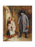 The Village Schoolmaster, 1881 Giclee Print by Charles West Cope